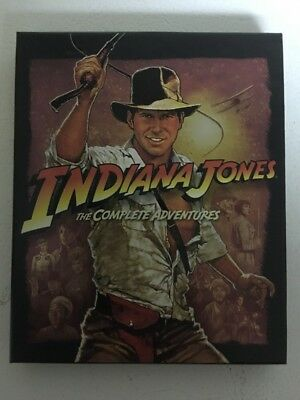 Indiana Jones The Complete Adventures Blu-Ray 4 Disc Collection With Booklet