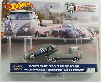 Porsche 356 Speedster Volkswagen T1 Team Transport 1:64 Hot Wheels FLF56