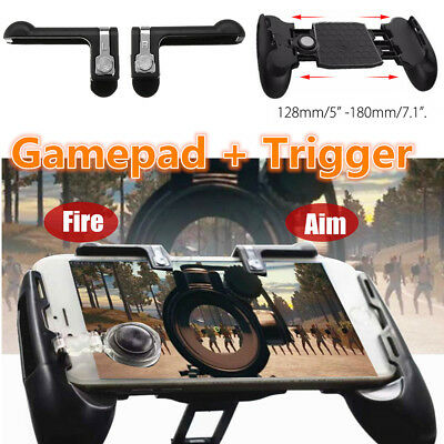 Mobile Phone Mobile Gaming Controller Handle Holder+Shooter Fire Button For PUBG