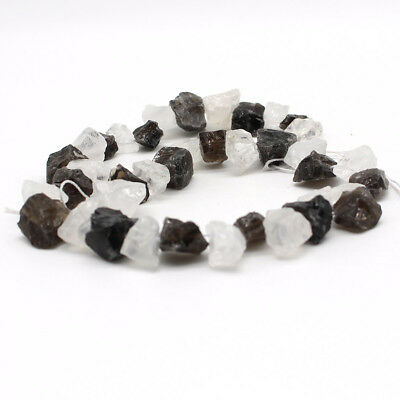 "15"" Natural Gemstone Smoked stone Freeform Chips Beads 8-14mm Side Drilled"