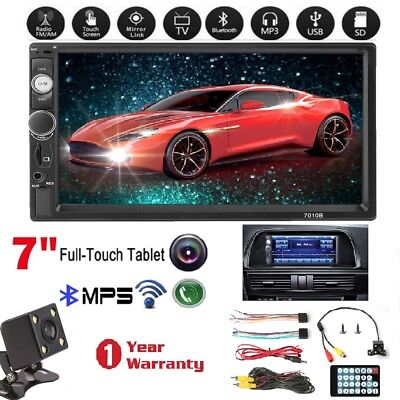 7 inch 2 DIN Car Stereo Mp5 Player Touch Screen Bluetooth Radio HD Rear Camera