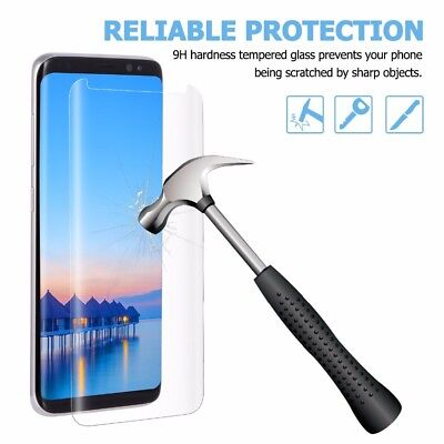 Samsung Galaxy S8 PLUS Full Curved Tempered Glass LCD Screen Protector Clear /LS