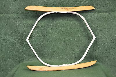 """Vintage 1940s Cissell Sleever Stretcher 12"""" Wood Arms with Advertising Stamp"""