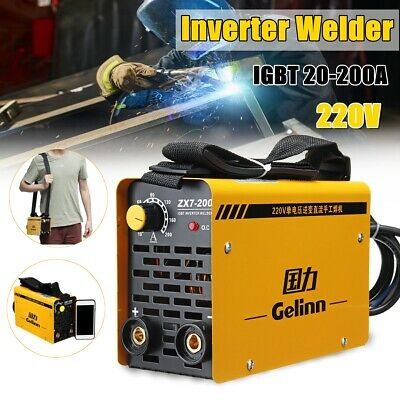 Portable TIG MIG Welder 220V 10-200A MMA ARC Welding Inverter Machine Tool new