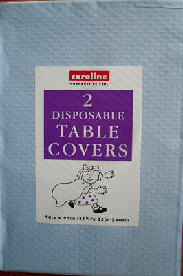 2 new blue paper disposable table cloths party ware  tablecloths christening etc