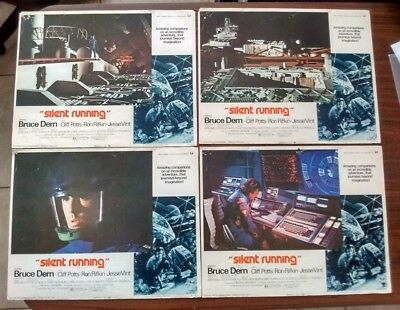 Silent Running Four Original 1972 Color Lobby Cards 11x14 Bruce Dern Good Condtn