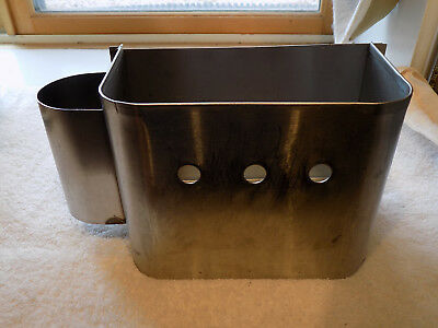New York Central Waste or Trash Bid with Toilet Paper Holder Stainless Steel