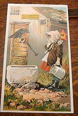 domestic sewing machine notions litho ad card
