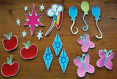 My Little Pony cutie mark embroidered patches ALL PONIES MLP brony custom