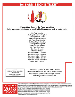 (1) Six Flags Holiday in the Park e-Ticket, Single Day Admission +Free Gift