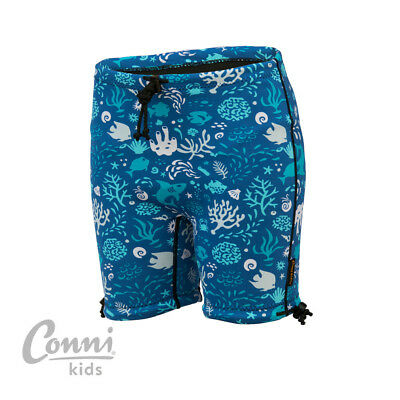 Conni Kids Containment Swim Shorts Size 8-10 Ocean Blue