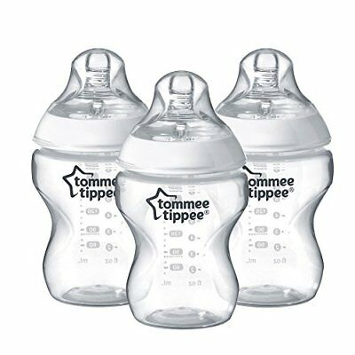 Tommee Tippee Closer to Nature Clear Bottles, 260 ml, Pack of 3