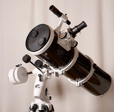 Sky-Watcher 150 reflector telescope with EQ3 mount, tripod and other accessories