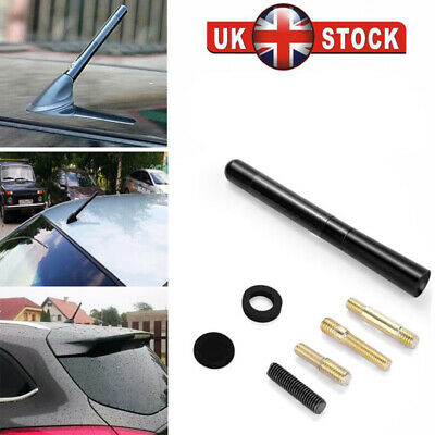 Car Bee-Sting Short Stubby Black Carbon Fibre Ariel Aerial Arial Mast Antenna