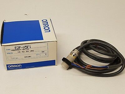OMRON E2F-X5F1 proximity switch 12..24VDC M18 Sn 5mm PNP NO cable 2mt