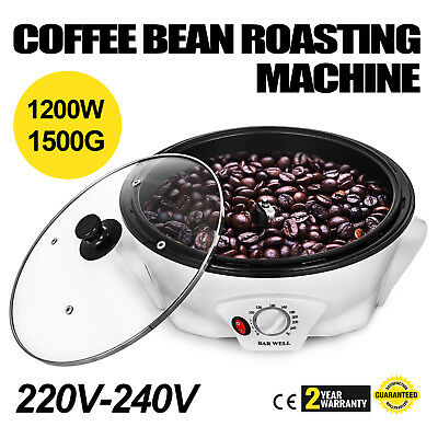 220V-240V 1200W Coffee Bean Roaster Roasting Machine Baking for Small Home Cafe
