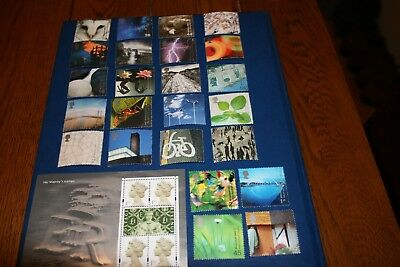 2000 Royal Mail GB MNH Stamp Sets x 14 Face Value £30.38