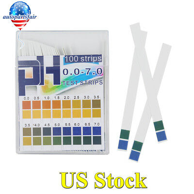 100pcs 0-7 PH Test Alkaline Acid Indicator Paper Water Litmus Tester Measurement
