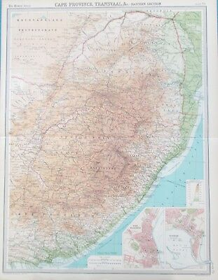Map of Transvaal. 1922. AFRICA. CAPE PROVINCE. JOHANNESBURG.