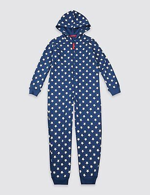 M&S Baby Boy/Girl Blue Star Print All In One Playsuit  1-2 Years RRP £14 BNWT!!