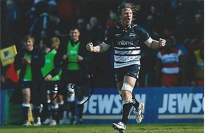 ANDY POWELL - Hand Signed 6x4 Photo - Sale Sharks Wasps Wigan Wales - Rugby