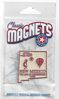 NEW MEXICO   NM   STATE   OUTLINE MAP MAGNET in Souvenir Bag, NEW
