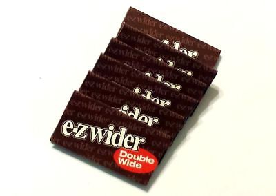 5x Packs E-Z Wider Double Wide ( 24 Leaves / Papers Each Pack ) Natural Rolling