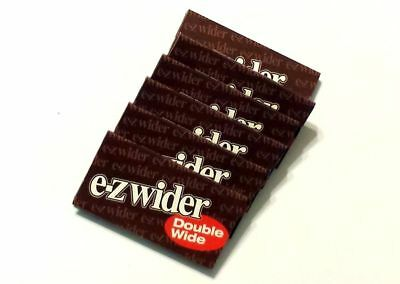6x Packs E-Z Wider Double Wide ( 24 Leaves / Papers Each Pack ) Natural Rolling