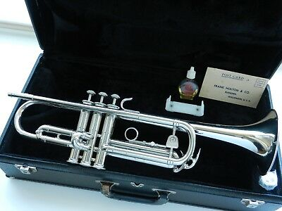 "1972 Holton T401 USA ""Galaxy"" Nickel Silver Trumpet -Smooth Valves Superb Player"