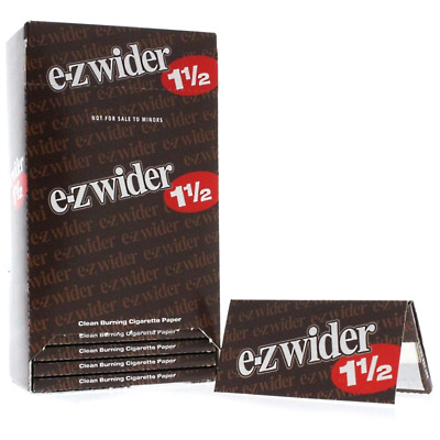 3x Packs E-Z Wider 1 1/2 ( 24 Leaves / Papers Each Pack ) Natural Rolling Paper