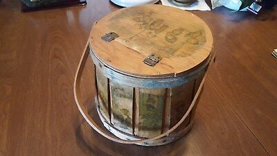 Antique Vintage Toy Box Basket Primitive Pail Bucket