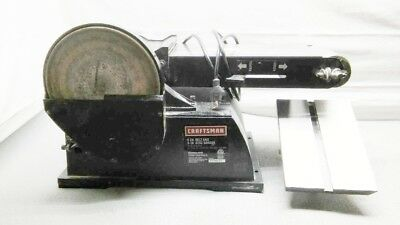 Used Craftsman 6 In. Belt & 9 In. Disc Sander 2400 Fpm & 3/4 Hp Model 22500