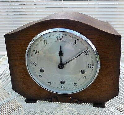 Enfield 8 Day Mantel Clock Westminster chiming strike silent Beautiful condition