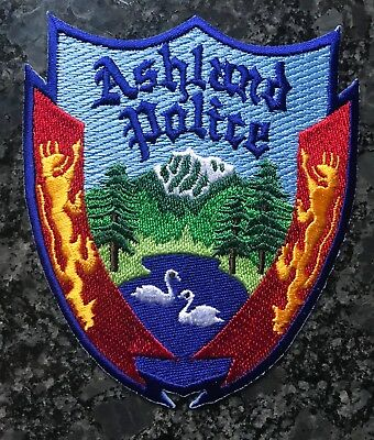 Ashland OR Police Patch Mountain Trees US BUYER ONLY