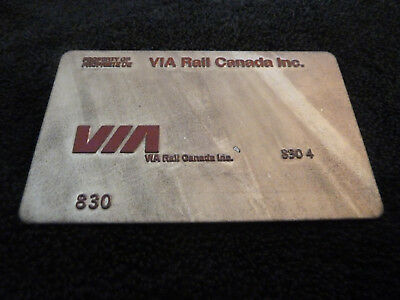 VIA Rail Canada 830 -  TRAVEL AGENT TICKET VALIDATION PLATE