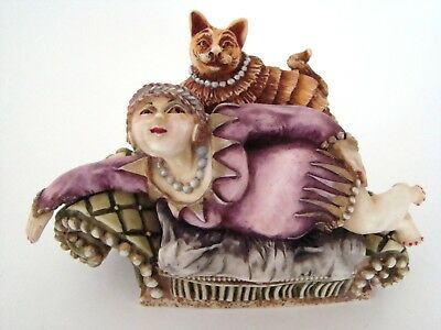 Harmony Kingdom Clair de Lune - Kiki and Cat - NEW Retired Limited Edition