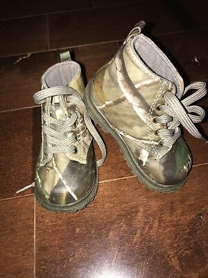 Toddler Boys Size 4 Camouflage Camo Boots