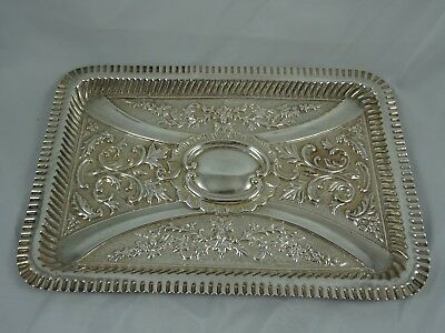 TOP QUALITY, EDWARDIAN silver DRESSING TABLE TRAY, 1902, 326gm