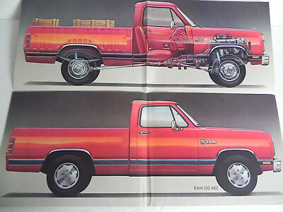 1987 Dodge Power Ram 100 Print Ad from 1987 Magazine Fold up Poster Chrysler