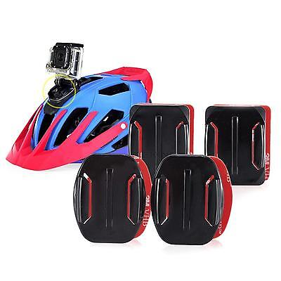 4pcs Plastic Flat Curved Adhesive Mount Helmet Accessories For Gopro Hero 3 4