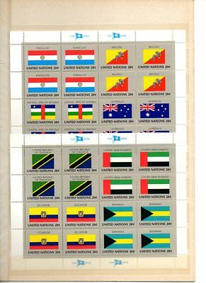 Vereinte Nationen New York 1984 Flaggenbögen postfrisch