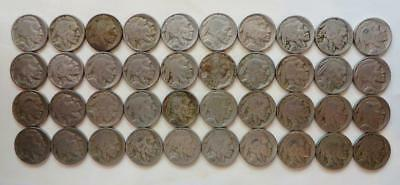 Roll (40) Full Date D&S Mint Marked Buffalo Nickels 1928-1938, Free USA Shipping