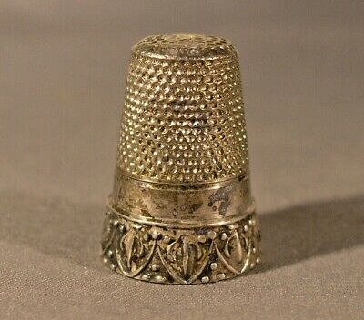 Vintage Sterling Silver .925 Sewing Thimble w/ Star of David on Top from Estate