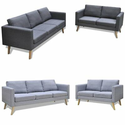 Chesterfield Sofa Antik Grau Polstersofa Couchgarnitur