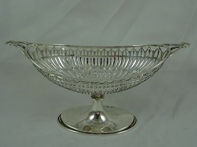 PRETTY solid silver NUT DISH, 1908, 87gm