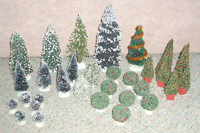 Lot of 31 holiday village trees