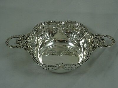 PRETTY solid silver NUT DISH, 1912, 75gm