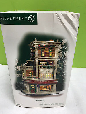 excellent DEPT 56 Christmas in the City WOOLWORTH'S