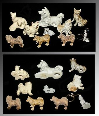 Lot Of 10 Collectable Small Husky Figurines From Different Eras