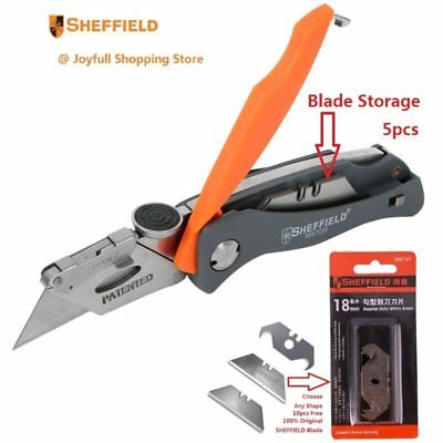 Best Patented Design SHEFFIELD Utility Folding Blade Knife Double Color Plastic
